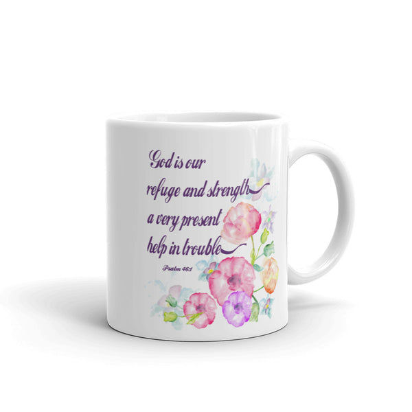 God is Our Refuge Mug made in the USA