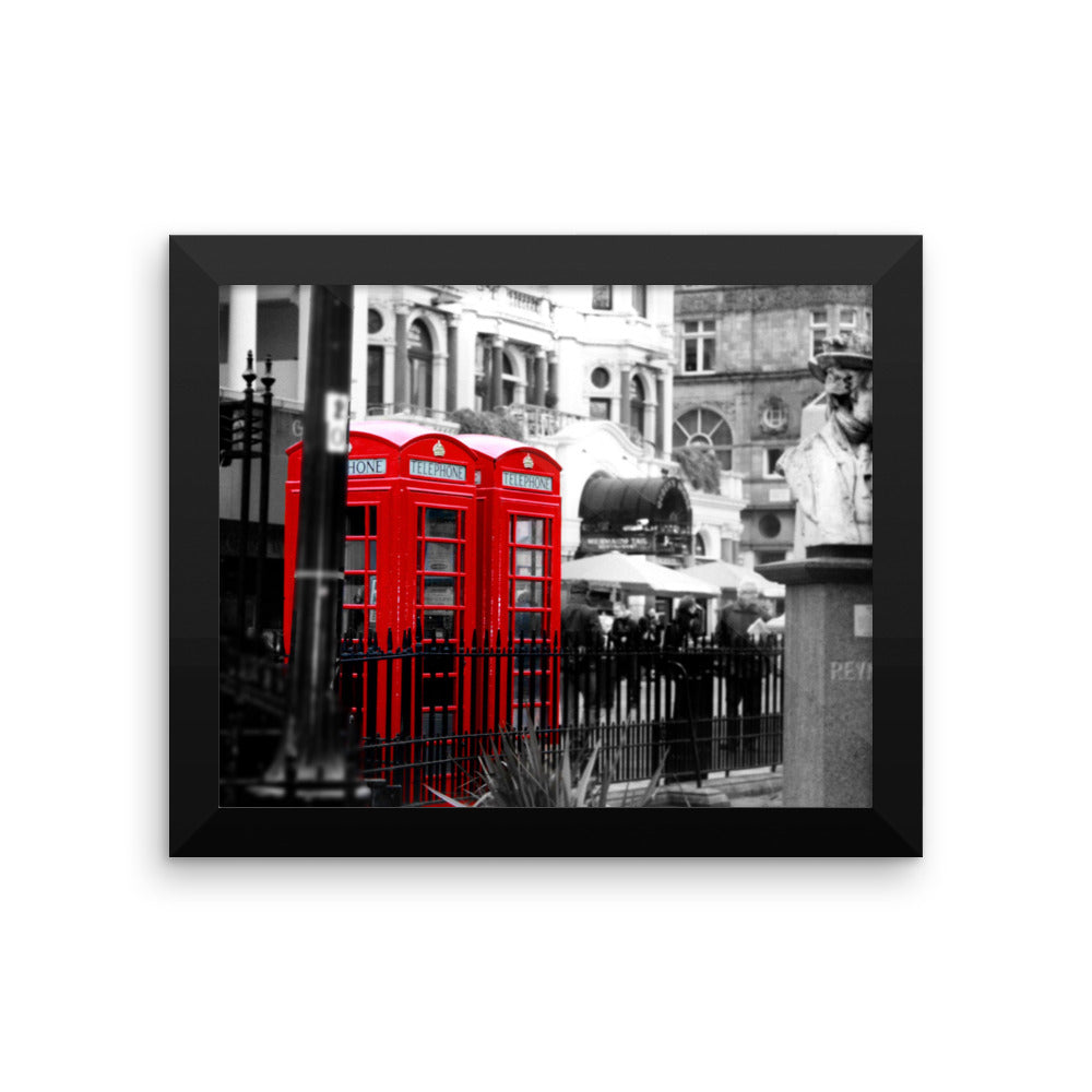 London Phone Booths Photo Framed poster