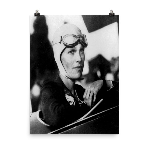 Amelia Earhart Vintage Photo Poster