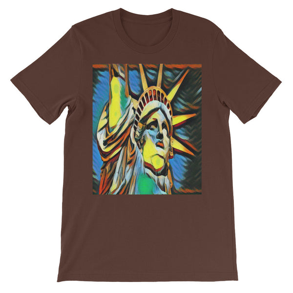Statue of Liberty Art Print Unisex short sleeve Tee Shirt