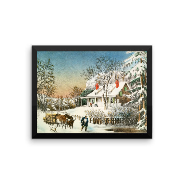 Currier and Ives Framed poster