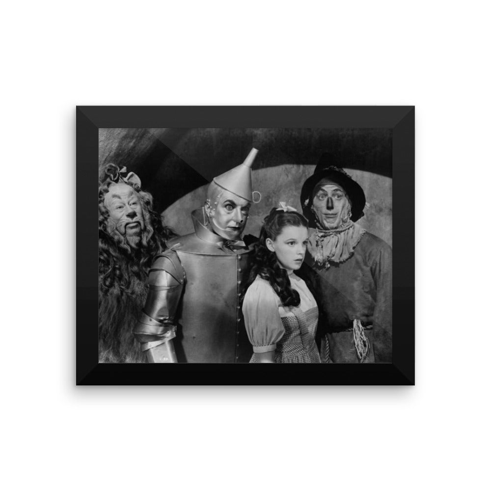 Wizard of Oz Cast Vintage Movie Framed Poster