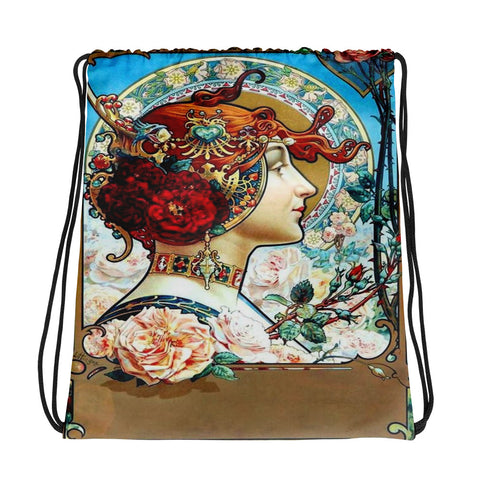 Vintage Magazine Cover Drawstring bag, Backpack