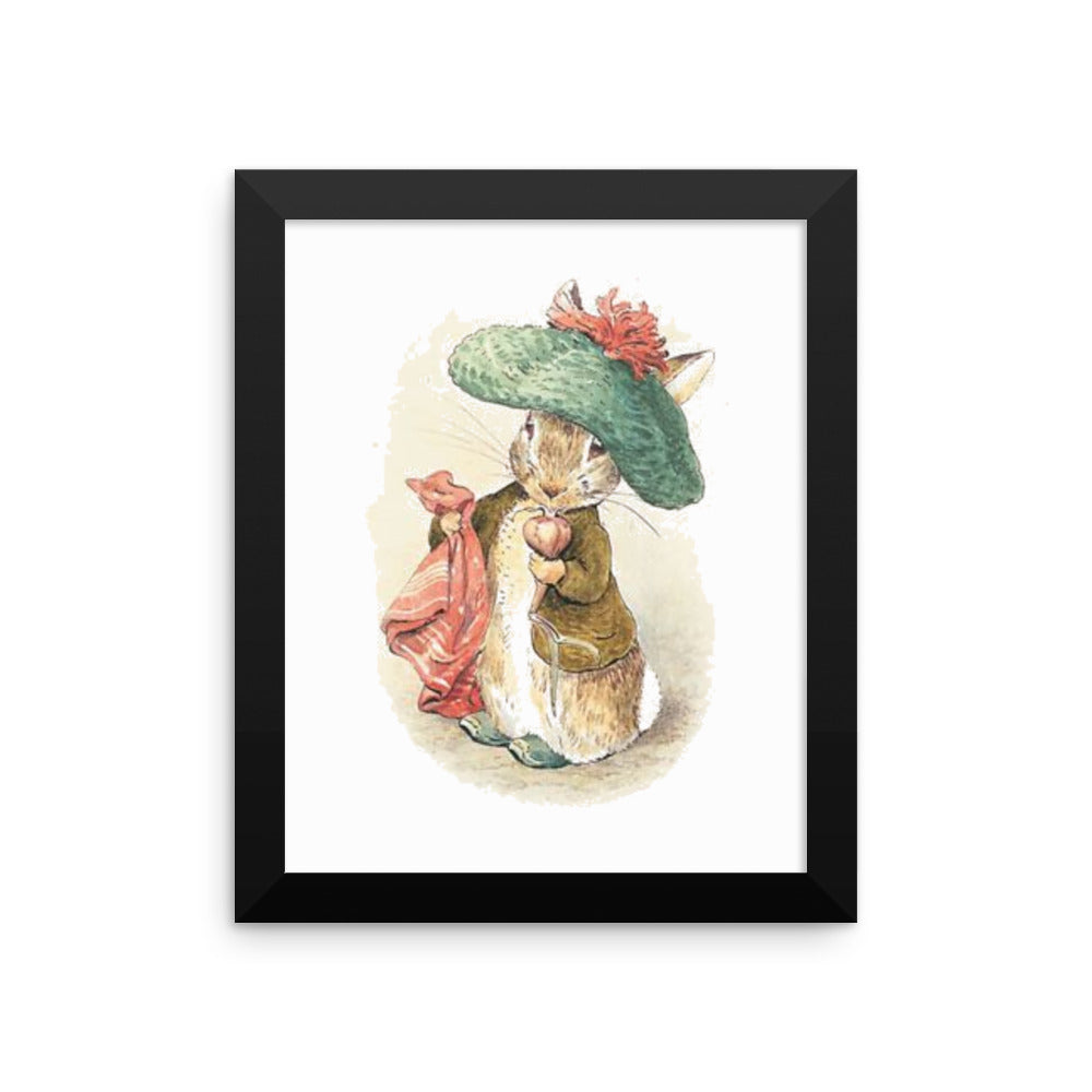 Benjamin Bunny Framed Poster, Beatrix Potter Peter Rabbit Framed Art Print