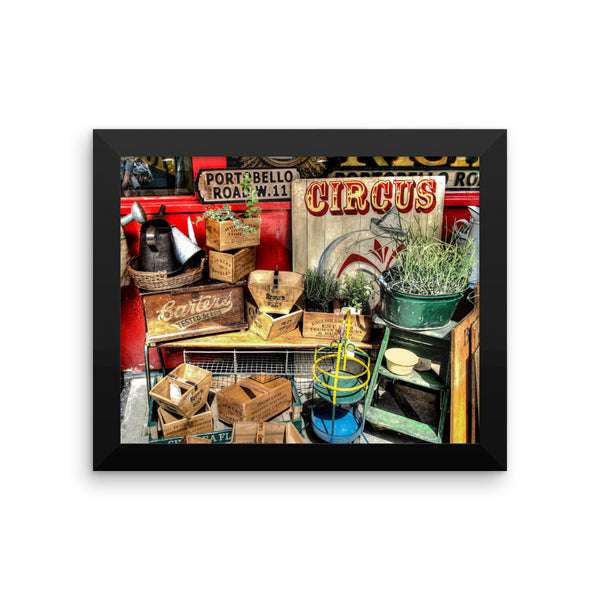 London Collage Art Photo Framed poster