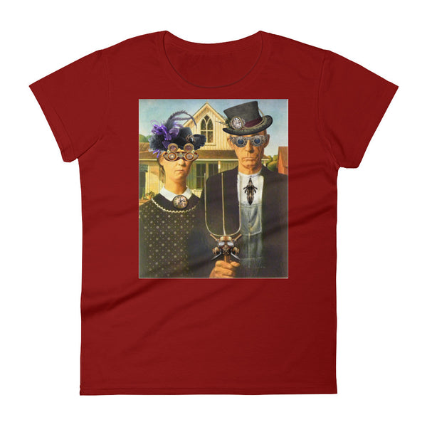 American Gothic Steampunk Women's short sleeve Tee Shirt
