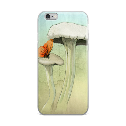 Mushrooms and Butterfly iPhone Case