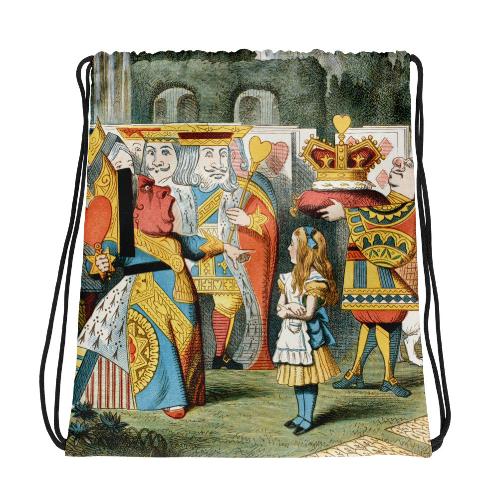 Alice in Wonderland Red QueenDrawstring bag