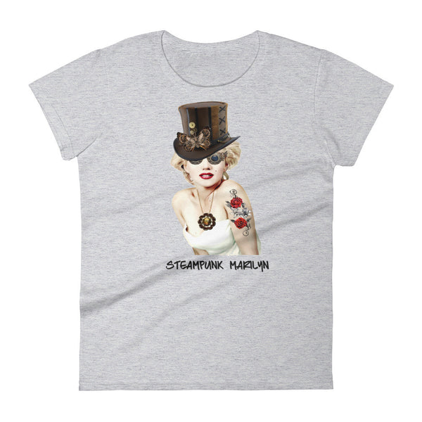 Steampunk Marilyn Monroe Women's short sleeve Tee Shirt