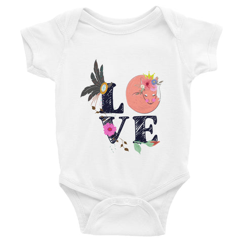 Boho Baby Fox Love Infant Bodysuit