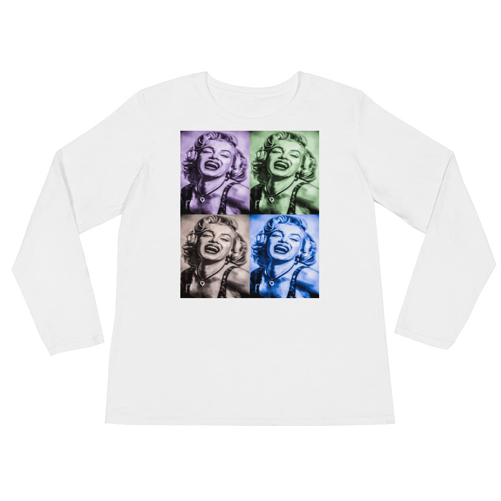 Marilyn Monroe Pop Art Ladies' Long Sleeve T-Shirt