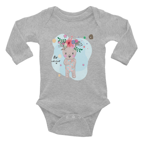 Boho Baby Bear Infant Long Sleeve Bodysuit