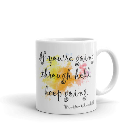 Watercolor Quote Mug