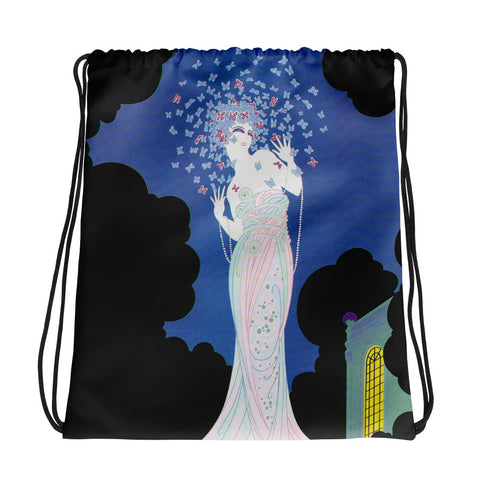 Art Deco Drawstring bag
