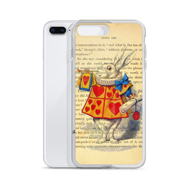 Alice in Wonderland White Rabbit iPhone Case