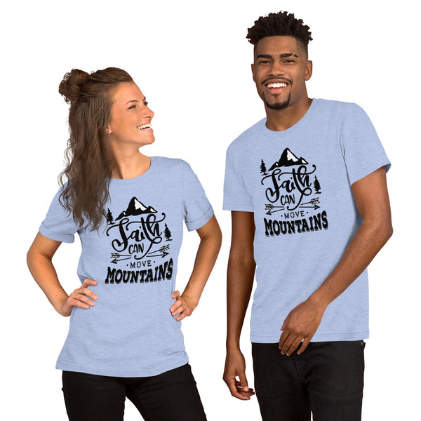 Faith Can Move Mountains Christian Short-Sleeve Unisex T-Shirt