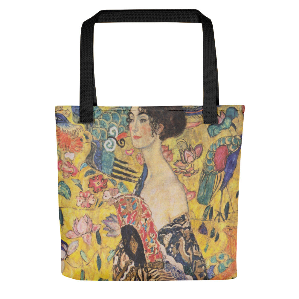 "Gustav Klimt ""Lady With a Fan""  All Over Print Tote Bag"