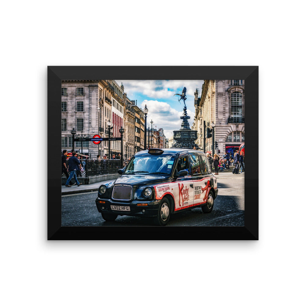 London Street Photo Art Framed poster