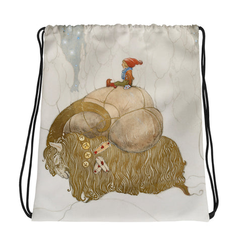 Vintage Art Print Drawstring bag, Backpack