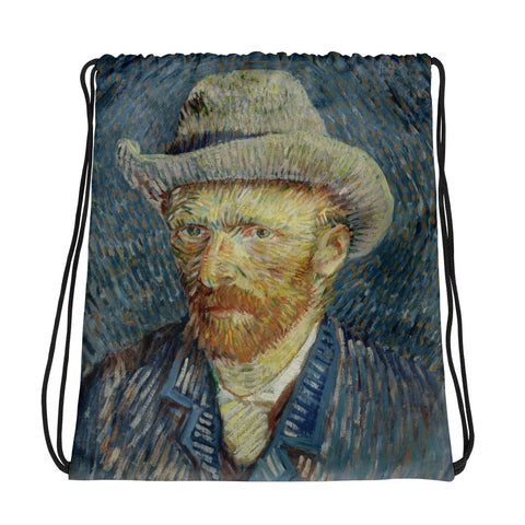 Vincent Van Gogh Self Portrait Drawstring bag, Backpack