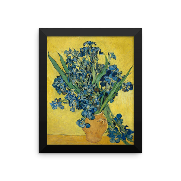 Irises by Vincent Van Gogh Art Reproduction Framed poster