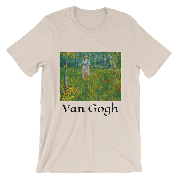 Vincent Van Gogh Woman Walking in a Garden Short-Sleeve Unisex T-Shirt
