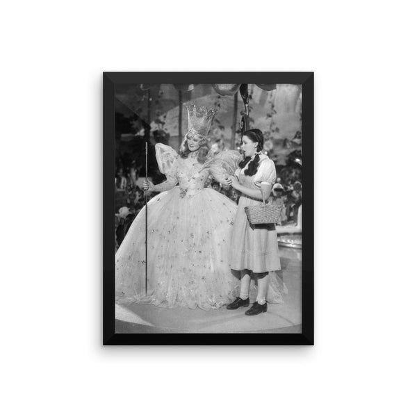 Wizard of Oz Dorothy and Glinda Framed Poster