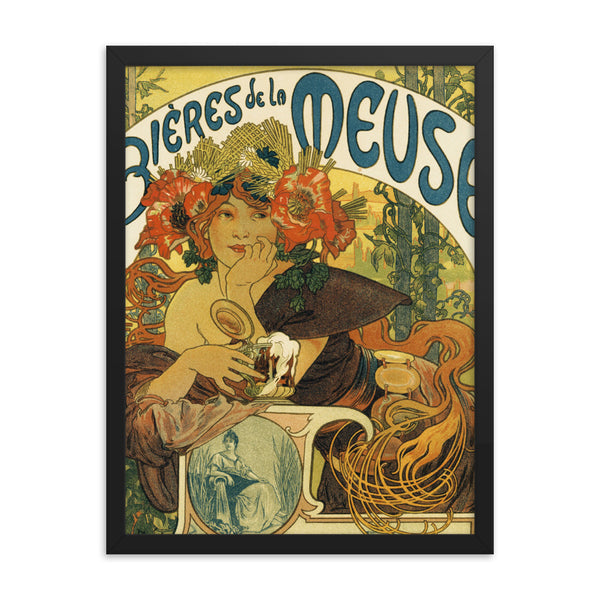 Alphonse Mucha Art Print Reproduction Framed poster