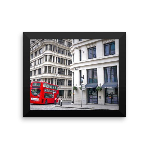 London Red Bus Photo Art Framed poster