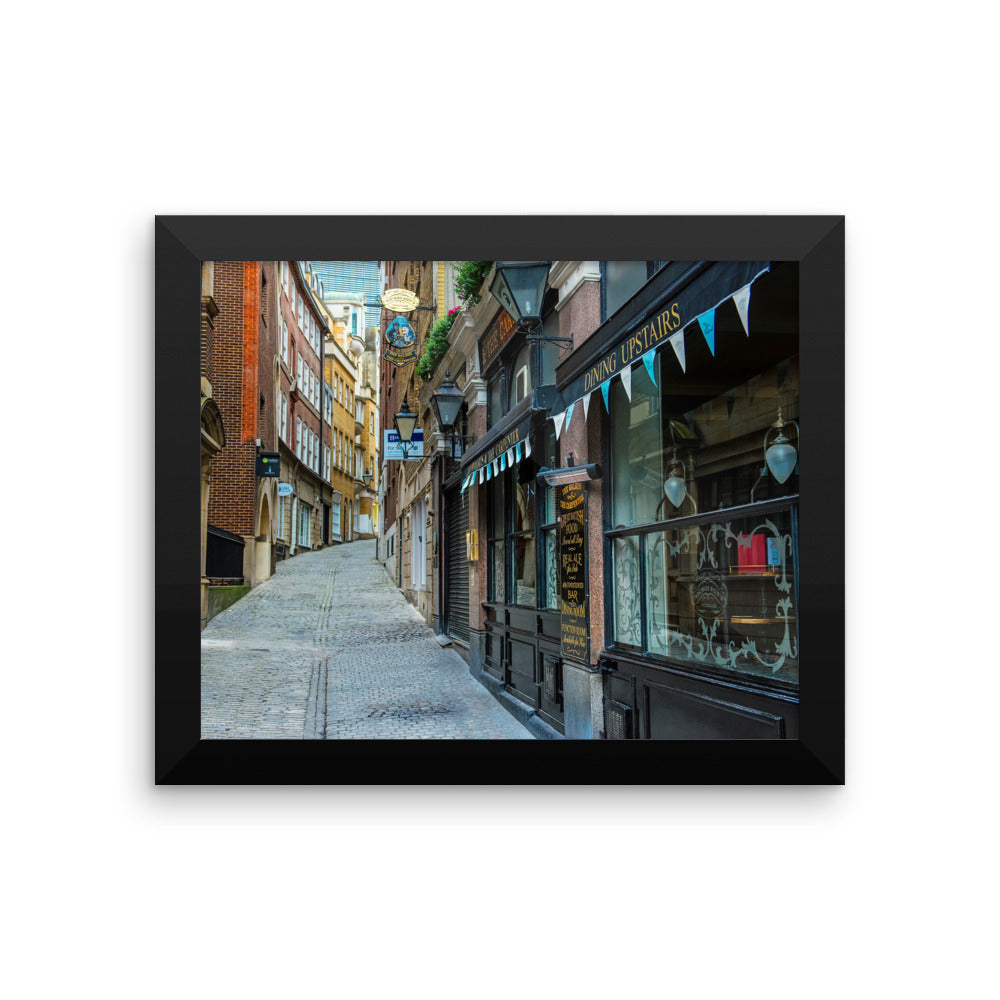 London Street Scene Photo Art Framed poster
