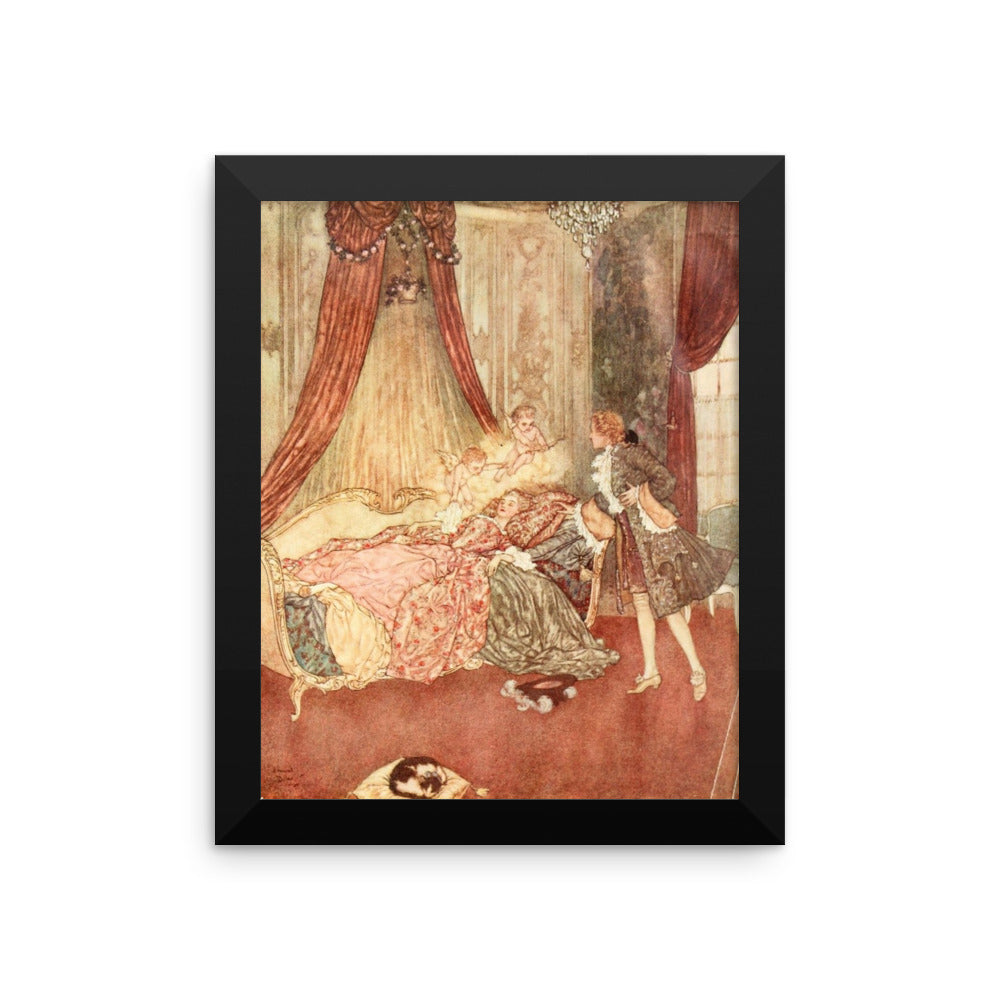 Sleeping Beauty in the Wood by Edmund Dulac Framed Poster