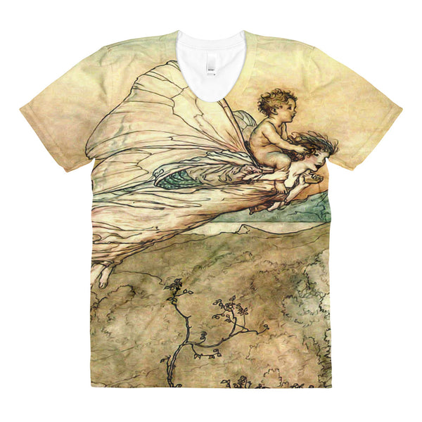 Vintage Arthur Rackham Sublimation women's crew neck t-shirt