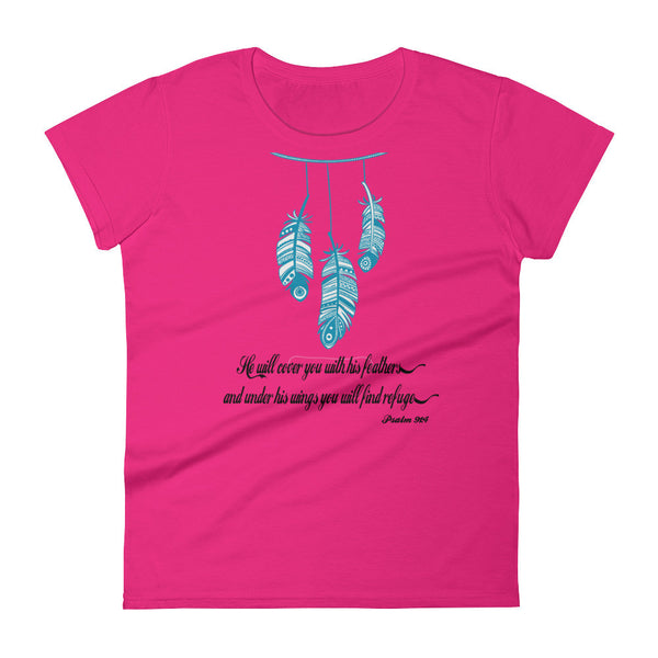 He Will Cover You With His Feathers Women's short sleeve t-shirt