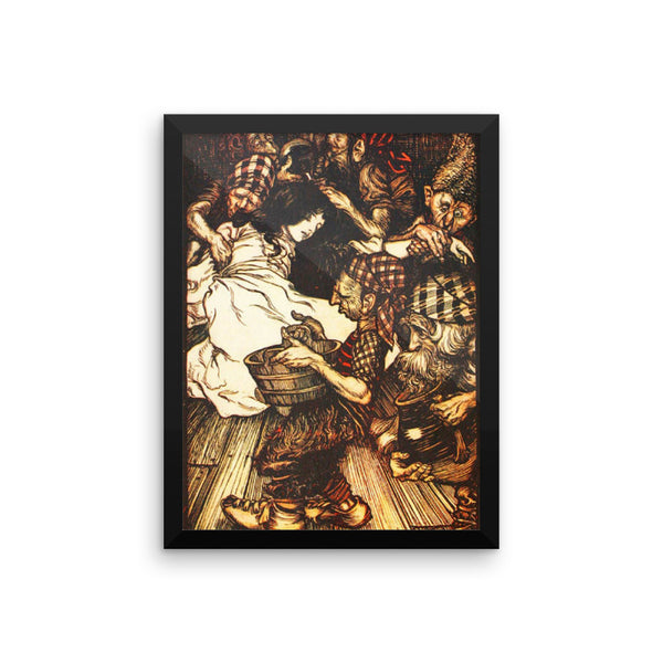 Snow White and the Seven Dwarfs by Arthur Rackham Framed poster