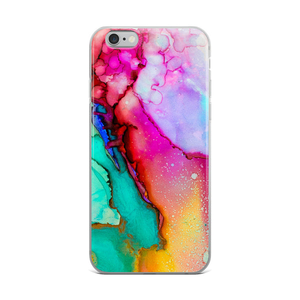 Rainbow Watercolor iPhone Case