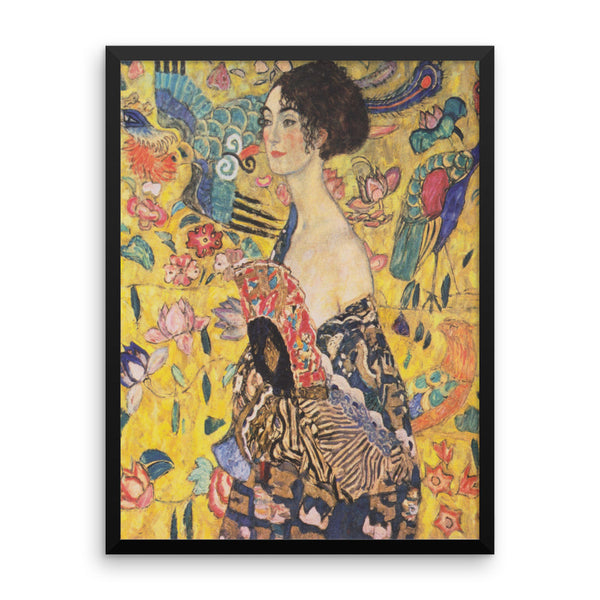 "Klimt ""Lady With Fan"" Framed Poster"
