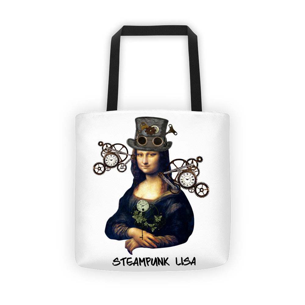 Steampunk Mona Lisa Tote bag
