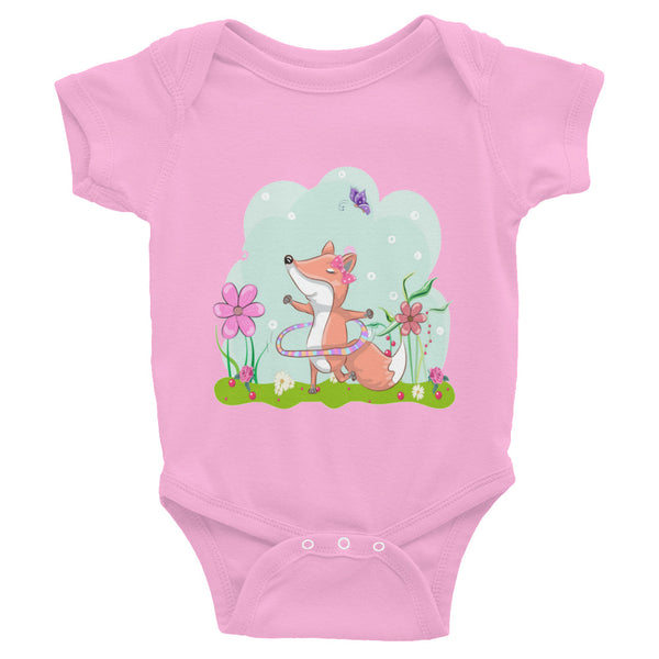Boho Happy Fox Infant Bodysuit