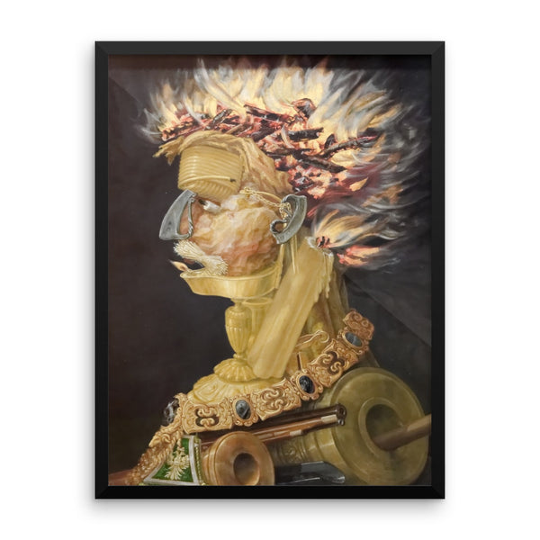 GIUSEPPE ARCIMBOLDO The Four Elements Fire Framed poster