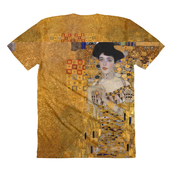 "Gustav Klimt ""Woman in Gold"" All Over Sublimation Women's Crew Neck T-shirt"