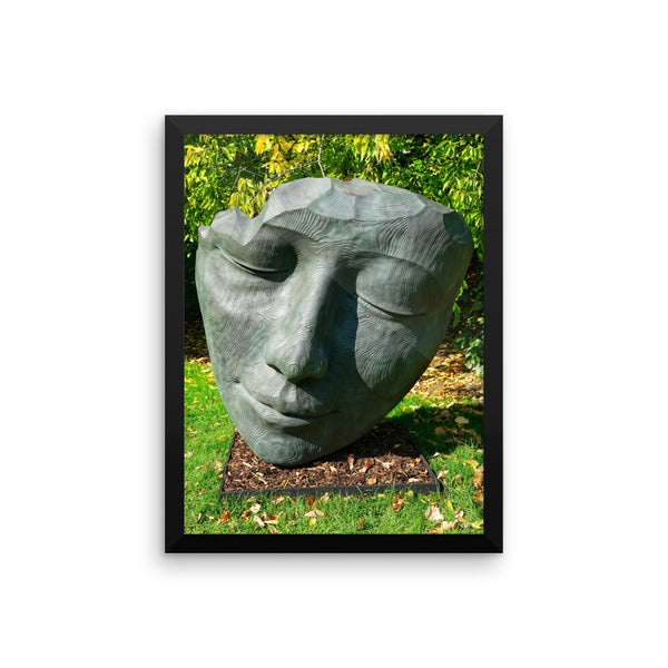 Head Sculpture London Photo Framed poster