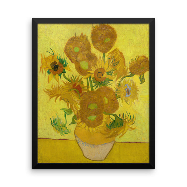 Sunflowers by Vincent Van Gogh Art Reproduction Framed poster
