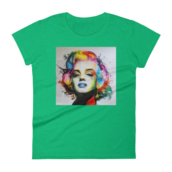 Marilyn Monroe Watercolor Pop Art Women's short sleeve t-shirt