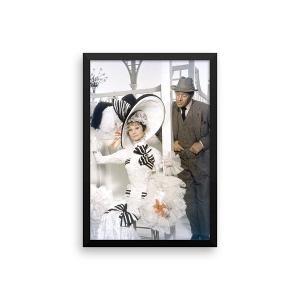 Audrey Hepburn and Rex Harrison My Fair Lady Framed Movie Poster