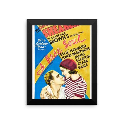 A Free Soul Leslie Howard Movie Framed Poster