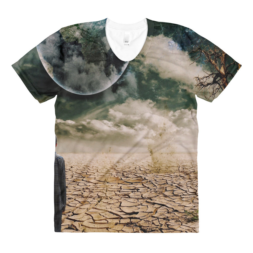 Modern Space Sublimation women's crew neck t-shirt