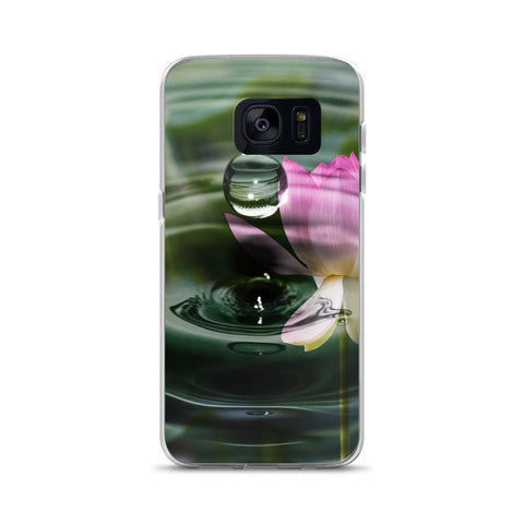 Lotus Flower Raindrop Photo Samsung Case
