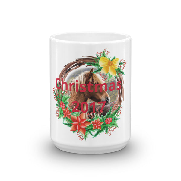 Beautiful Wreath Horse Mug