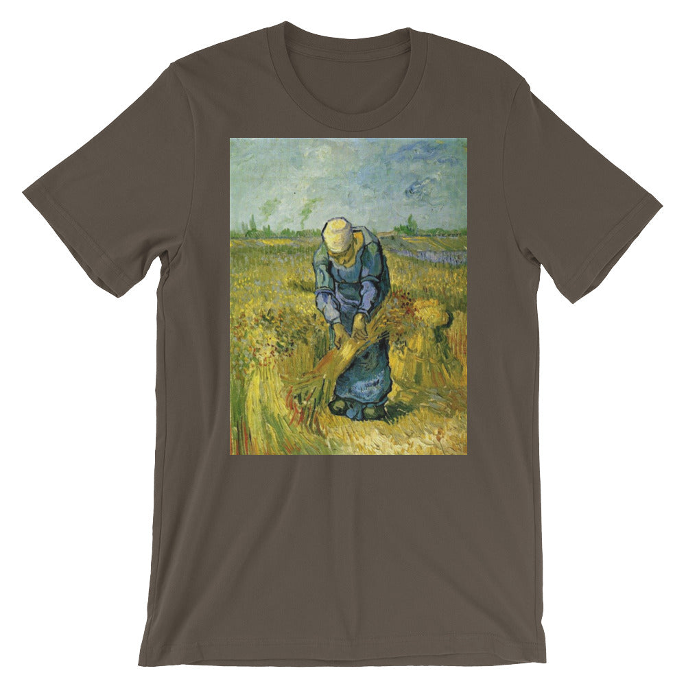 Vincent Van Gogh Woman in a Field Short-Sleeve Unisex T-Shirt