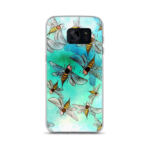 Watercolor Bees Samsung Case